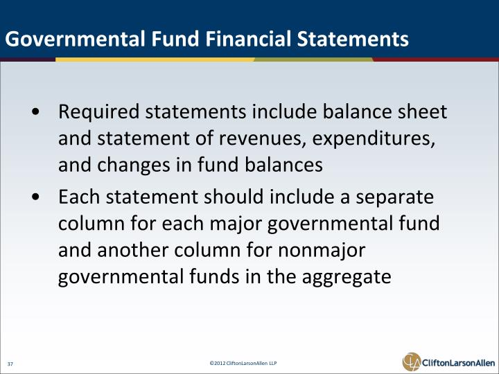 Governmental Fund Financial Statements