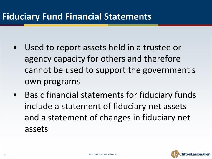 Fiduciary Fund Financial Statements