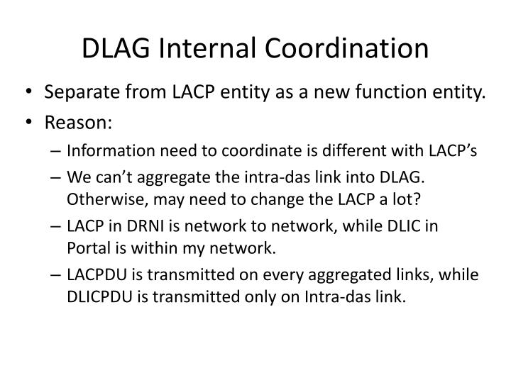 DLAG Internal Coordination
