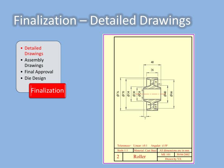 Finalization – Detailed Drawings