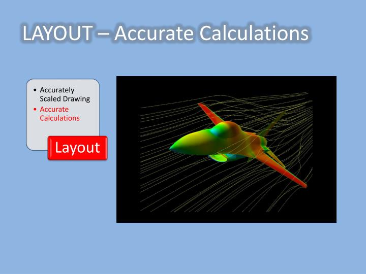 LAYOUT – Accurate Calculations