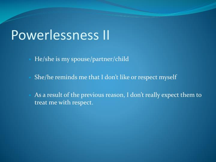 Powerlessness II