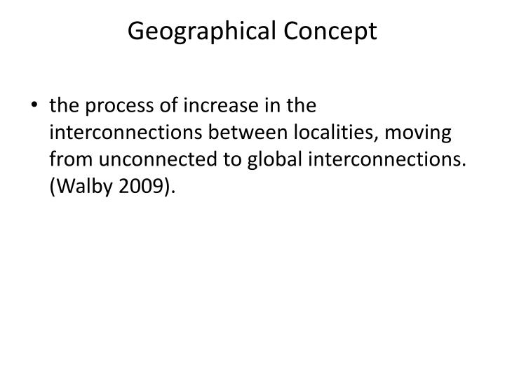 Geographical Concept