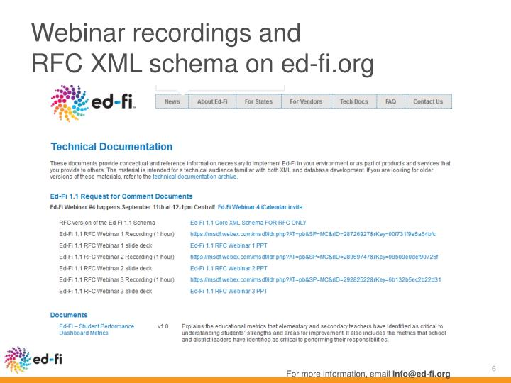 Webinar recordings and