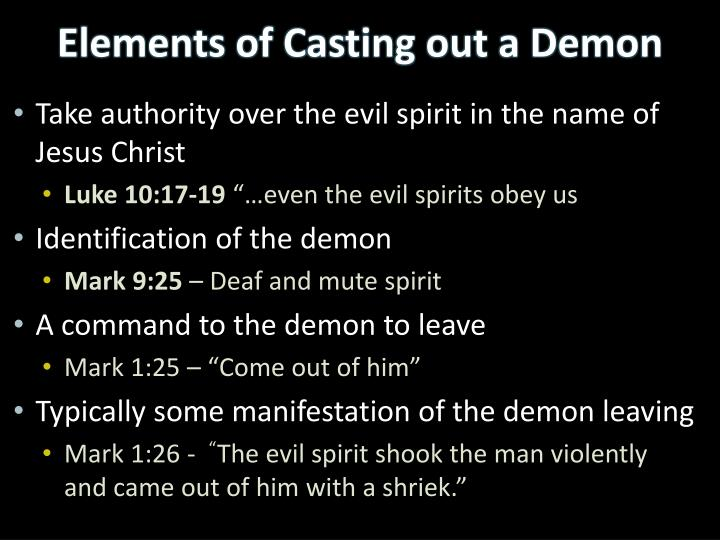 Take authority over the evil spirit in the name of Jesus Christ