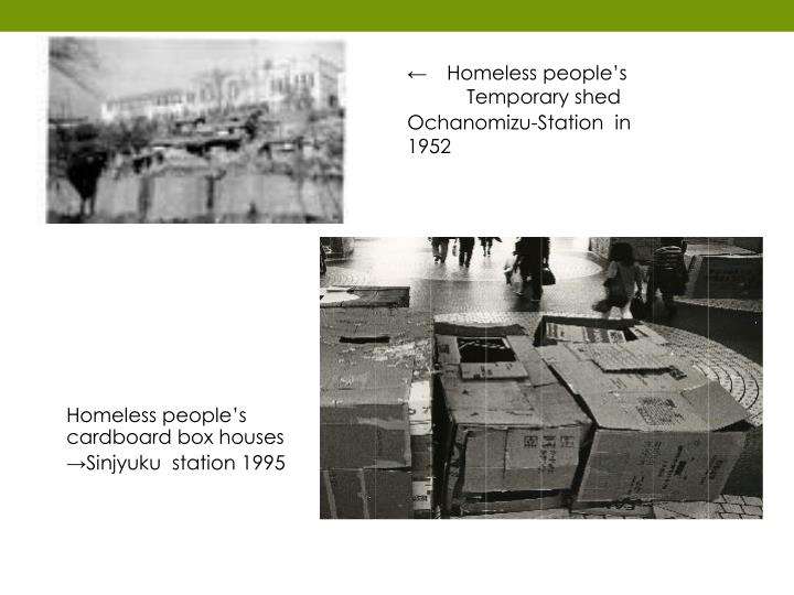 ← Homeless people's
