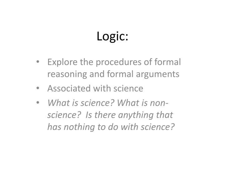 Logic:
