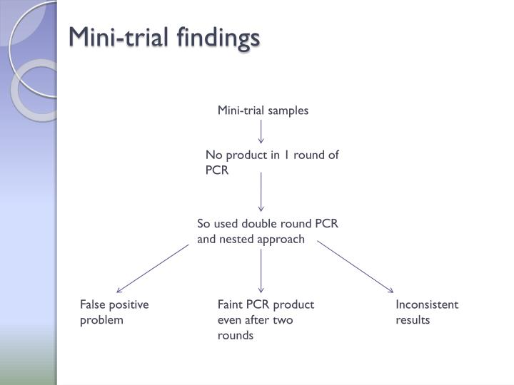 Mini-trial findings
