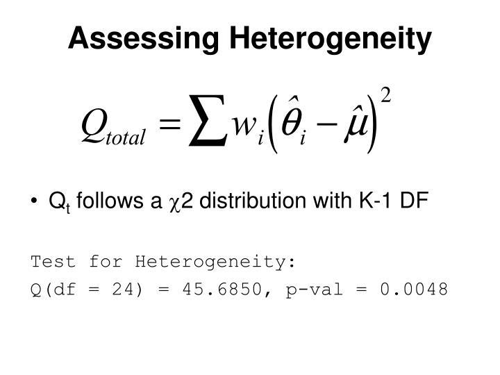 Assessing Heterogeneity