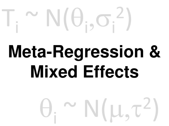 meta regression mixed effects