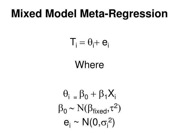 Mixed Model Meta-Regression