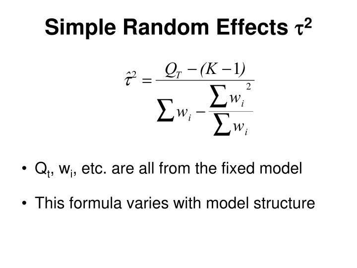 Simple Random Effects
