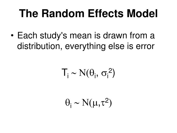 The Random Effects Model