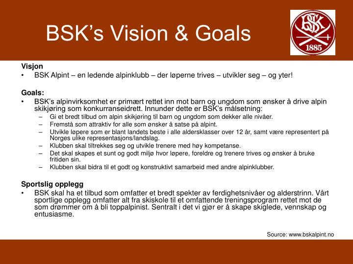 BSK's Vision & Goals