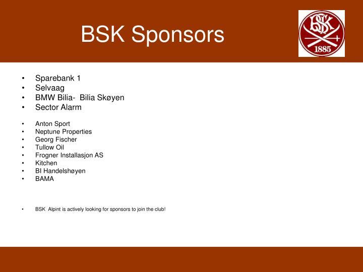 BSK Sponsors