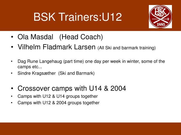 BSK Trainers:U12