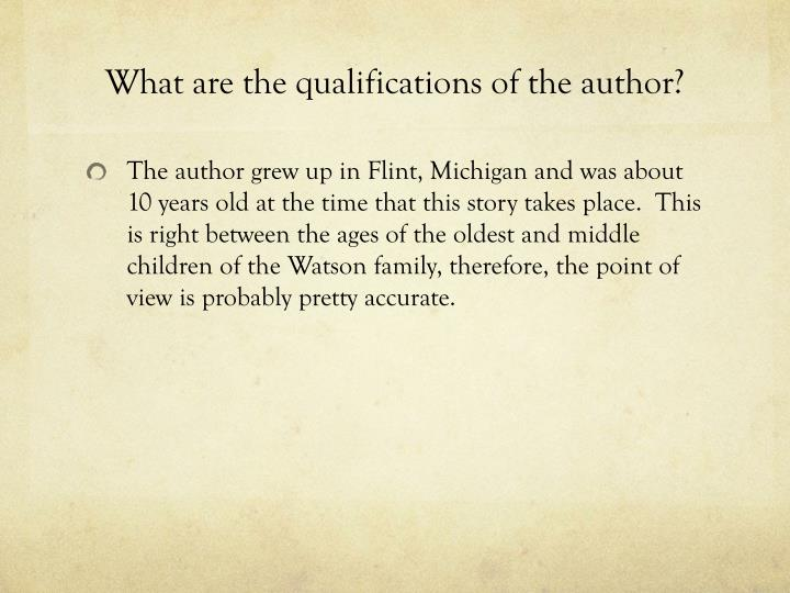 What are the qualifications of the author?