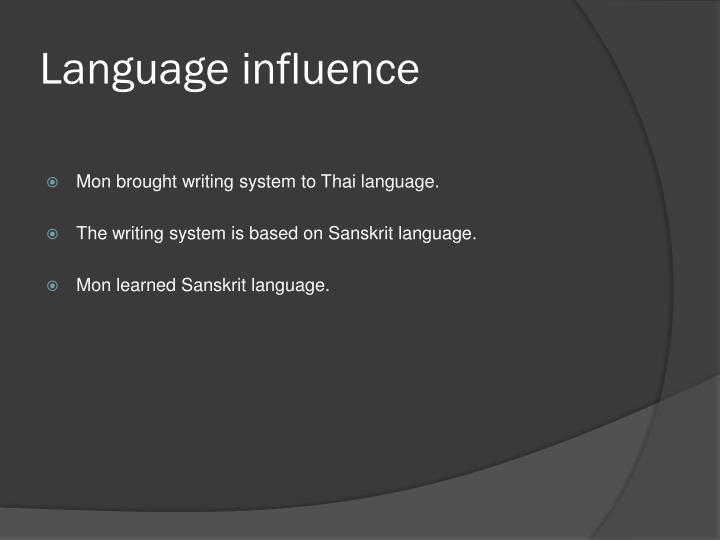 Language influence