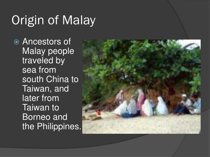 Origin of Malay