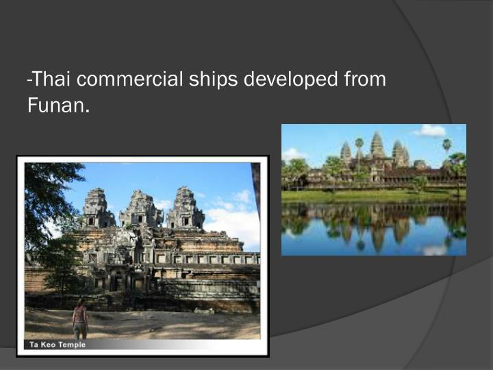 -Thai commercial ships developed from