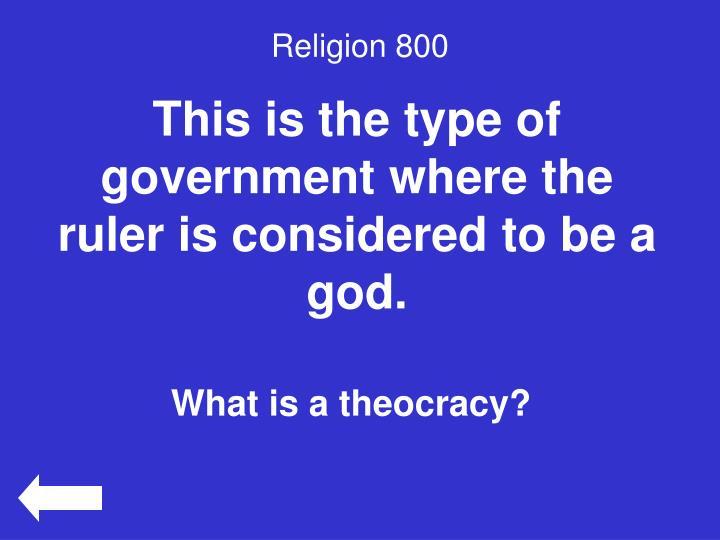 Religion 800