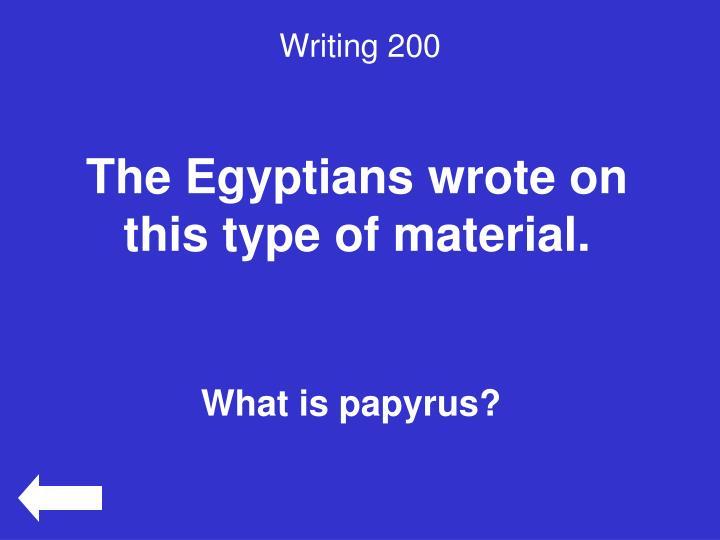 Writing 200