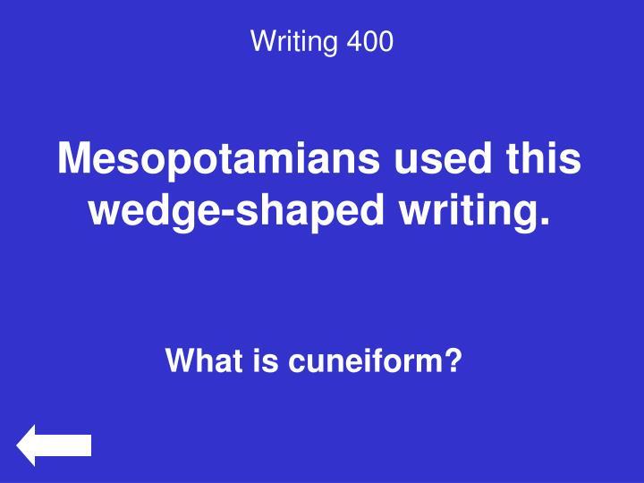 Writing 400