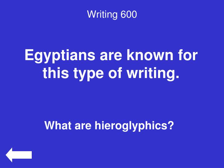 Writing 600