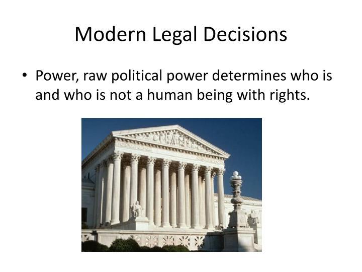 Modern Legal Decisions