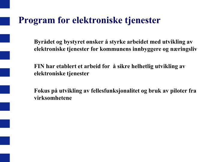 Program for elektroniske tjenester