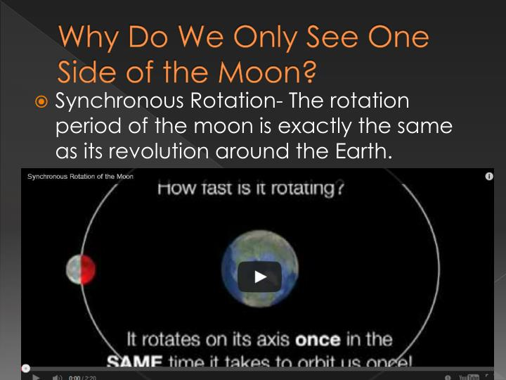 Why Do We Only See One Side of the Moon?