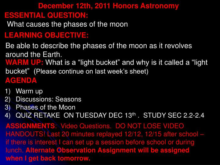 December 12th,