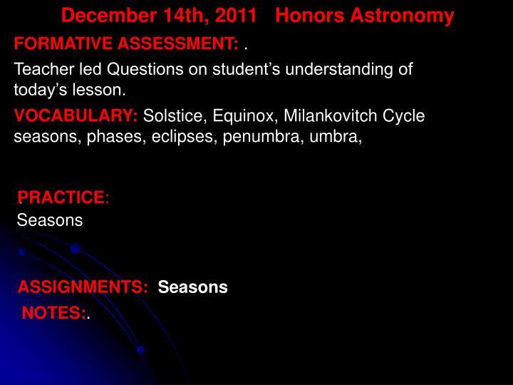 December 14th,