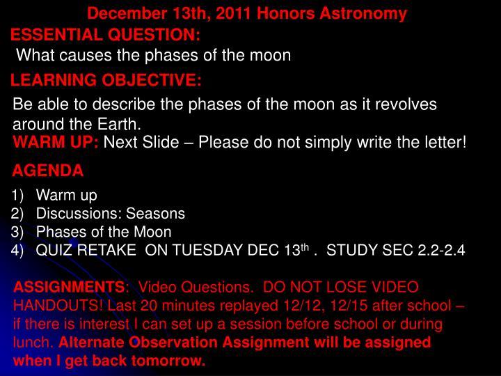December 13th,