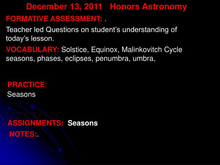 December 13,