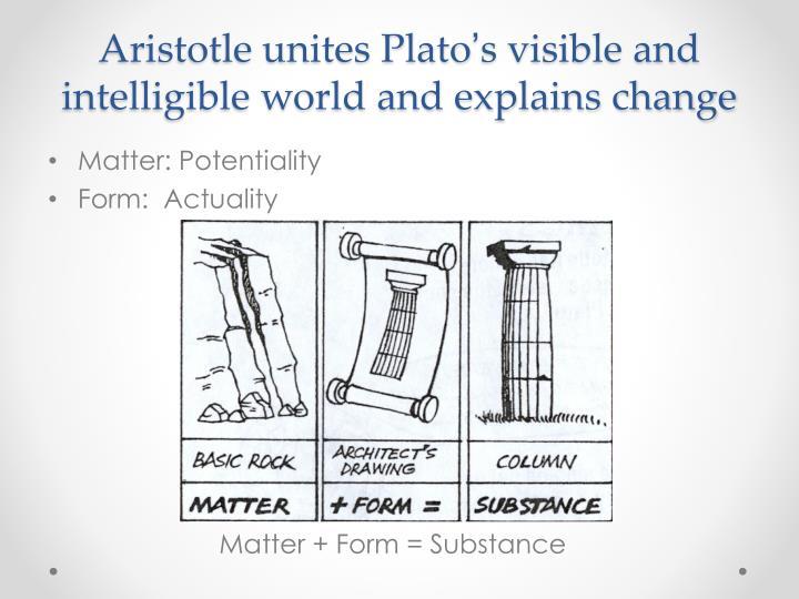 Aristotle unites Plato
