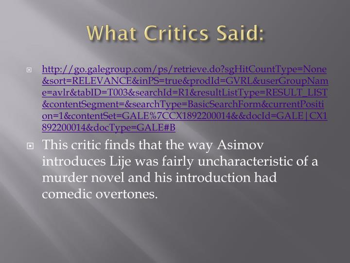 What Critics Said: