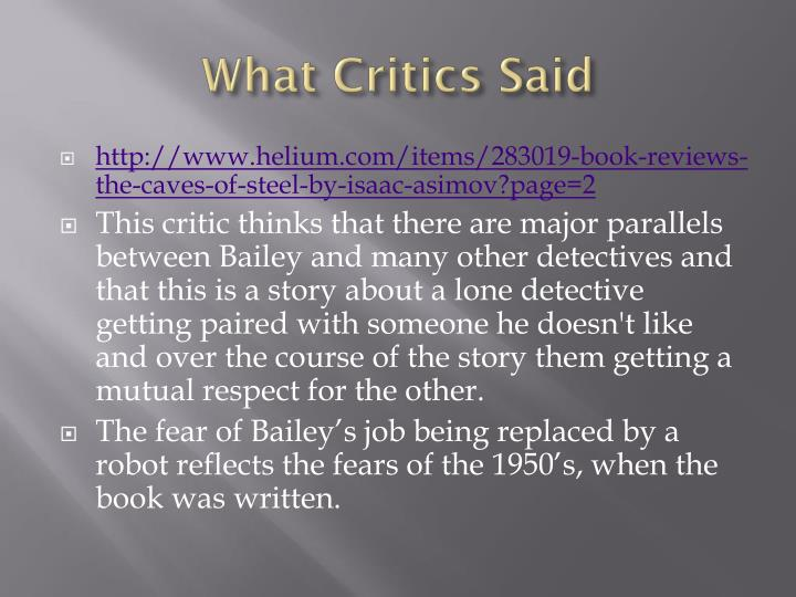 What Critics Said
