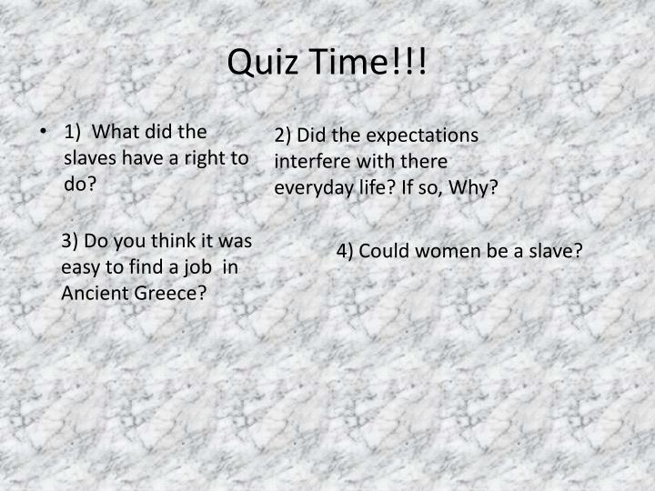 Quiz Time!!!