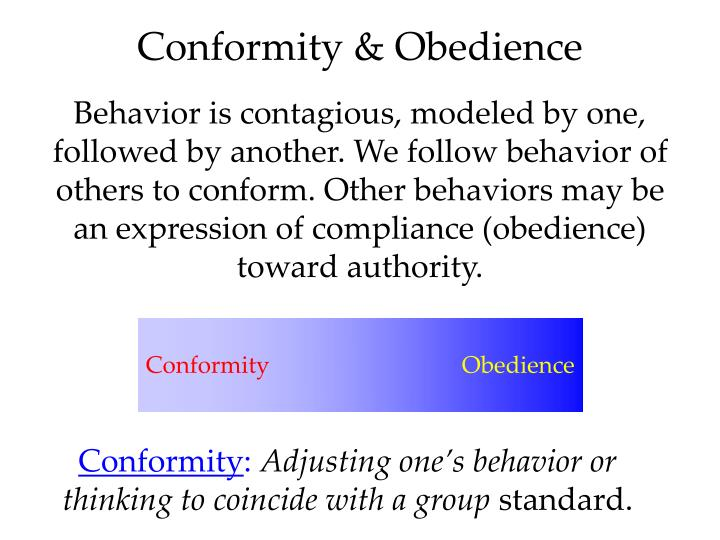 Conformity & Obedience