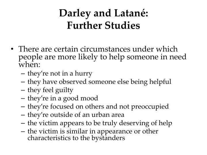 Darley and Latané: