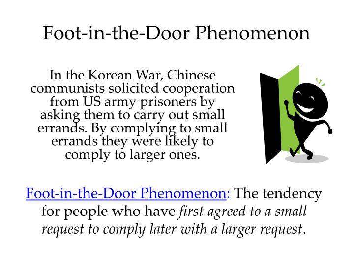 Foot-in-the-Door Phenomenon