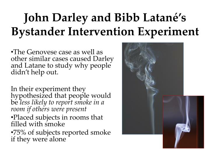 John Darley and Bibb Latané's Bystander Intervention Experiment