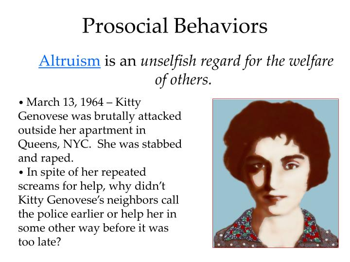 Prosocial Behaviors