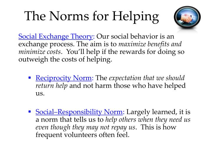 The Norms for Helping