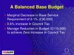 a balanced base budget