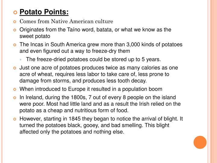Potato Points: