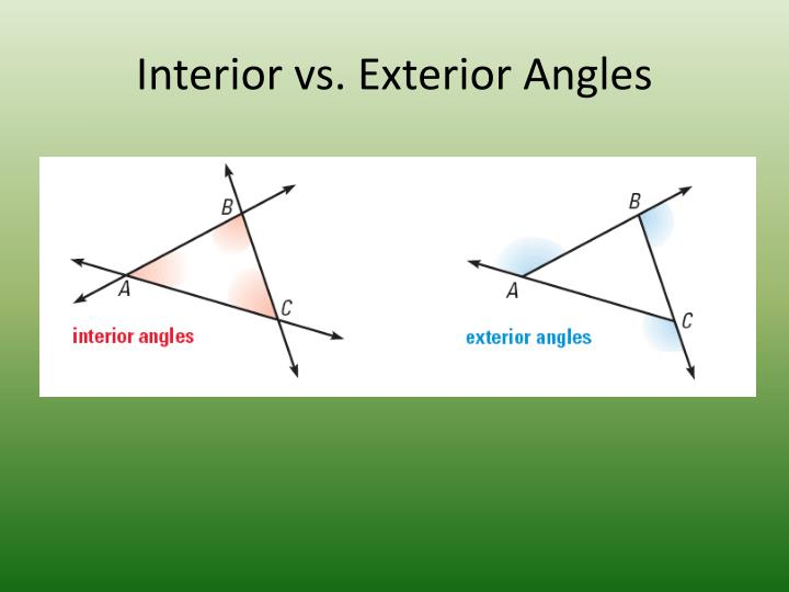 Interior vs. Exterior Angles
