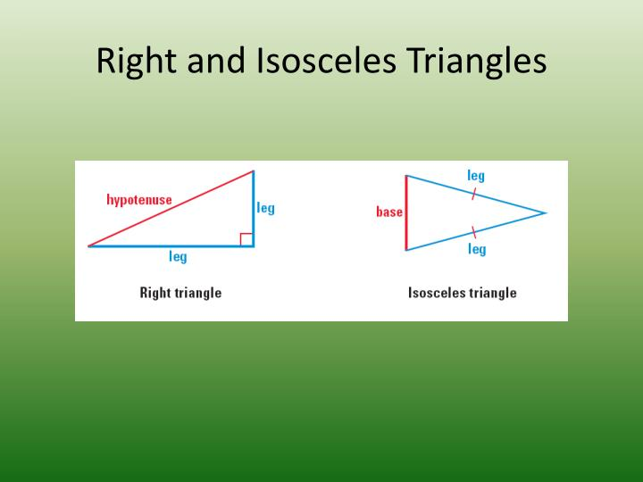 Right and Isosceles Triangles