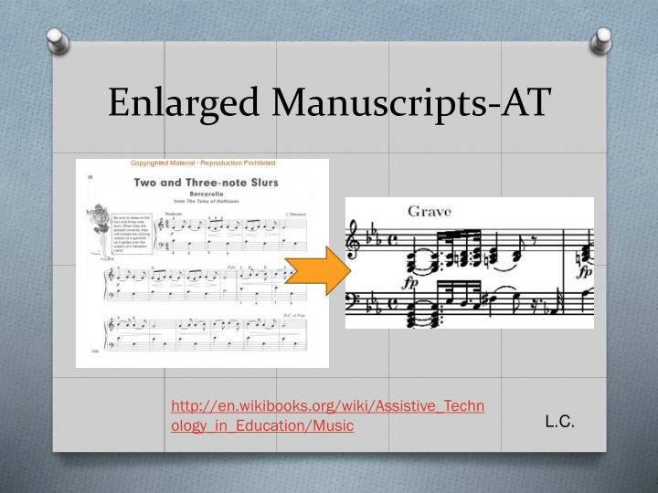 Enlarged Manuscripts-AT